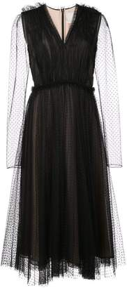 Jason Wu polka dot pleated dress