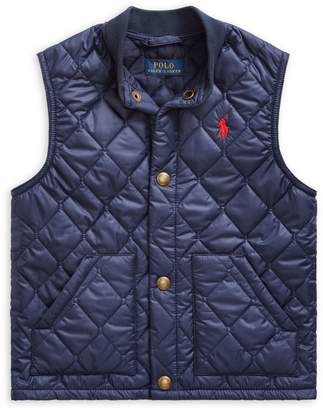 Ralph Lauren Childrenswear Little Boy's Quilted Cotton-Blend Vest