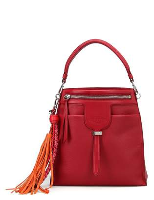 Tod's Thea Hobo Maxi Tassel Detailed Leather Bag