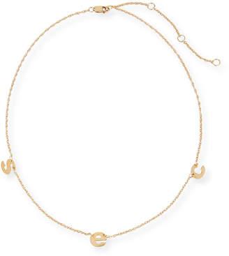 Jennifer Zeuner Jewelry Parker Three Letter Chain Necklace