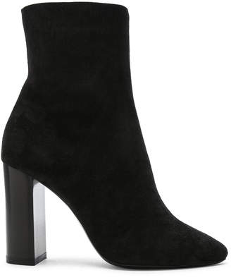 Saint Laurent Suede Lou Ankle Boots