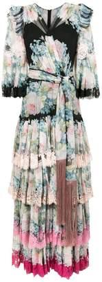 Dolce & Gabbana floral print ruffle dress