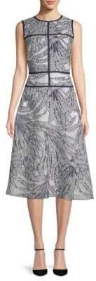 Lafayette 148 New York Damaris Palm Fill Coupe Dress