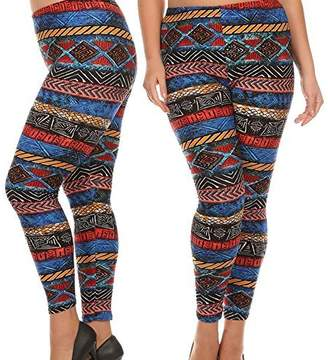 89dd637d6fd at Amazon Canada · plus size appeal Woman s Buttery Soft Plus Size Tribal  Aztec Leggings Tall Curvy Queen