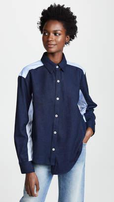 Clu Colorblocked Asymmetrical Shirt