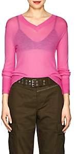 Helmut Lang Women's Cashmere V-Neck Sweater-Pink