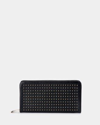 Olga Berg Leni Soft Leather Studded Wallet