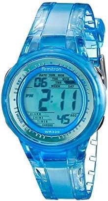 clear Armitron Sport Women's 45/7051BLU Digital Light Jelly-Strap Watch