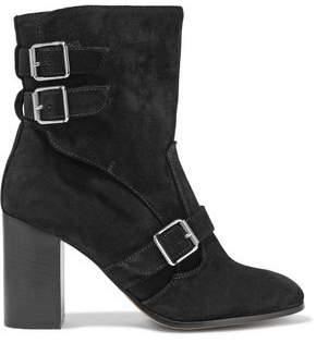 Belstaff Bedlington Buckled Suede Ankle Boots