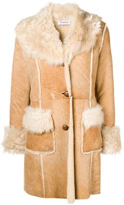 P.A.R.O.S.H. shearling fitted coat