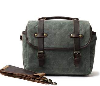 EAZO - Waxed Canvas Bag With Dslr Camera Sleeve In Teal