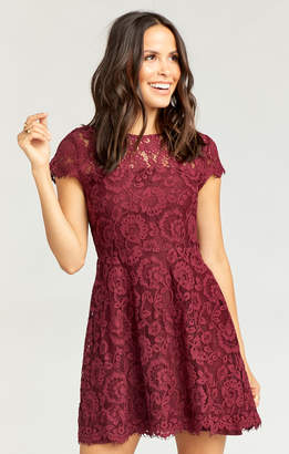 Show Me Your Mumu Alyce Dress ~ Darling Lace Berry Merlot