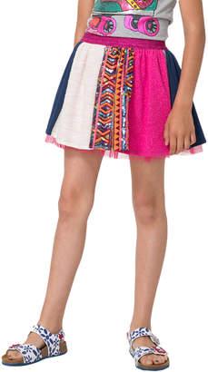 Desigual Colorblock Cotton Skirt