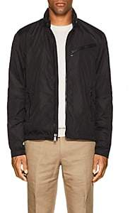 Ralph Lauren Purple Label Men's Tech-Fabric Biker Jacket - Black