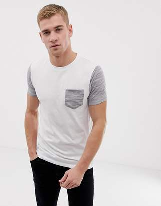 Asos Design DESIGN t-shirt with pocket in interest fabric in white