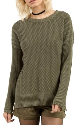 Women's Volcom Twisted Mr Cotton Sweater $49.50 thestylecure.com