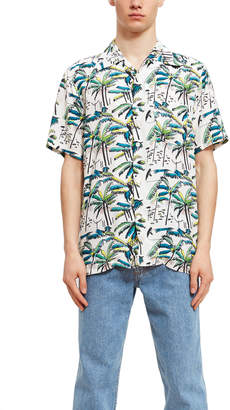Aloha Blossom Filipe Palm Short Sleeve Shirt