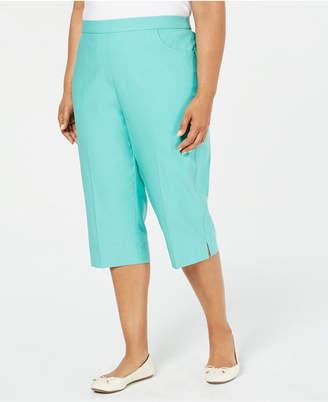Alfred Dunner Plus Size Coastal Drive Capri Pants