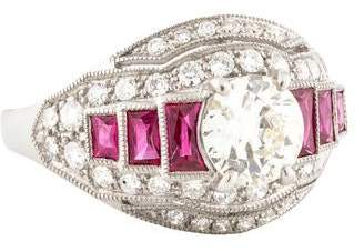 d Collection Sophia Platinum Diamond Cocktail Ring