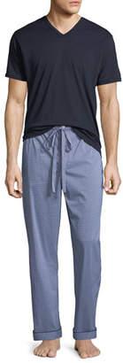 Neiman Marcus Men's Two-Piece Check Pajama Gift Set