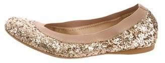 Stuart Weitzman Glitter Ballet Flats