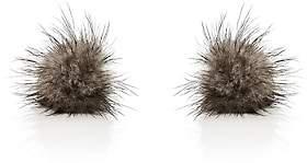 Samuel Gassmann Paris Men's Mink Fur Cufflinks-Gray