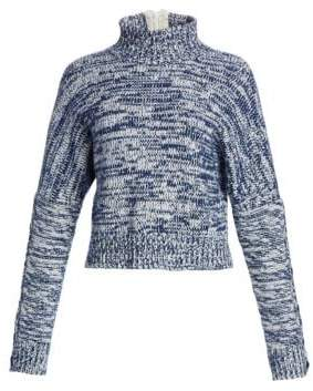 Akris Punto Melange Turtleneck Chunky Sweater