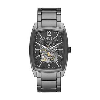 Fossil Relic by Men's Perry Automatic Stainless Steel Skeleton Dial Watch