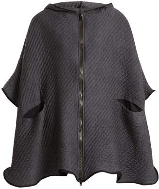 Charli COHEN On The QT quilted wool-blend poncho