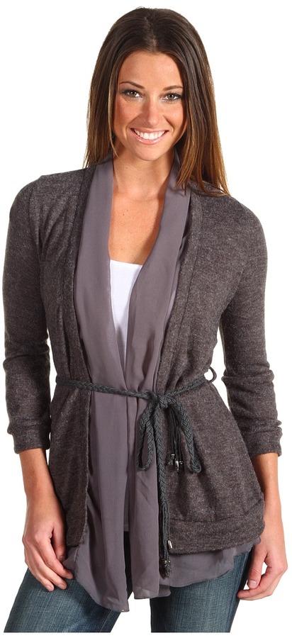 Brigitte Bailey Tanya Cardigan (Grey) - Apparel