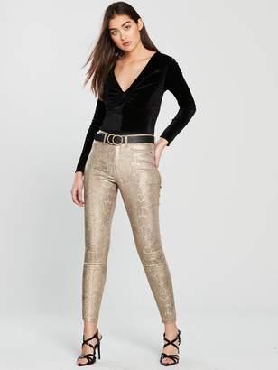 Very Gold Snake Print Skinny Jeans