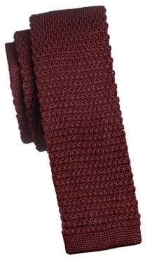 Black Brown 1826 Solid Knit Slim Tie