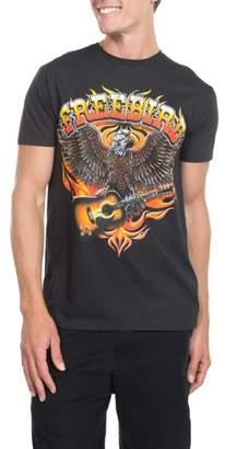 Freebird Music Lynyrd Skynyrd Men's Short Sleeve Crew Neck Band T-Shirt, up to Size 3XL