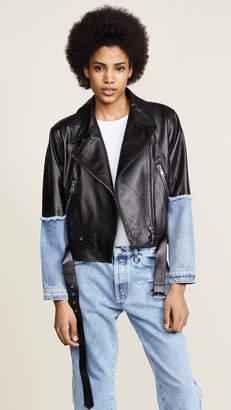 Natasha Zinko Leather & Denim Jacket