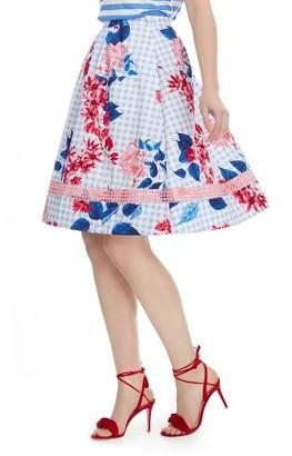 Women's Draper James Garden Party Cotton Midi Skirt $165 thestylecure.com