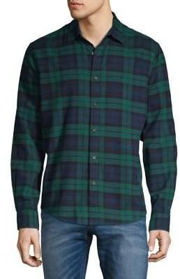 Black & Brown Black Brown Plaid Button-Down Shirt