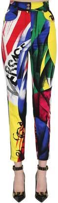 Versace High Waist Printed Denim Jeans