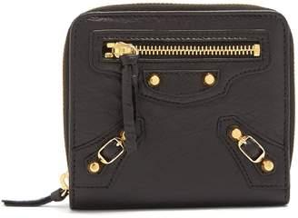 Balenciaga Classic bi-fold zip-around leather wallet