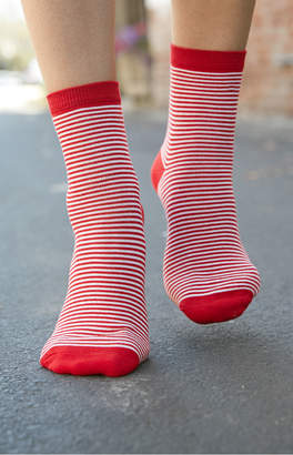 John Galt Striped Crew Socks