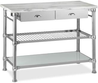Williams-Sonoma Modular Kitchen Island with Marble Top