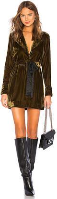 Marled x Olivia Culpo Velvet Piping Dress