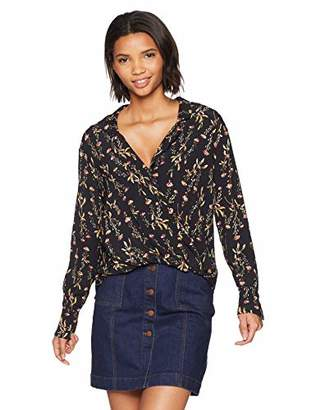 LIKELY Women's Mimi Printed Long Sleeve Half Tuck Blouse