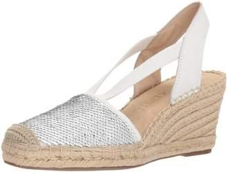 Anne Klein Women's Abbey Synthetic Espadrille Wedge Sandal