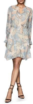Reiss Dara Leaf Print Dress