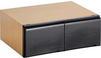 Christian Dior Argos Home Beech Effect & Black Stackable DVD Media Storage