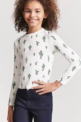 Forever 21 Girls Cactus Graphic Top (Kids)