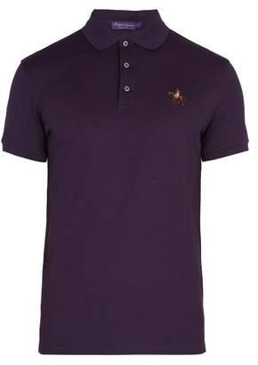 Ralph Lauren Purple Label Cotton Pique Polo Shirt - Mens - Purple