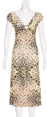 Just Cavalli Printed Sleeveless Midi Dress