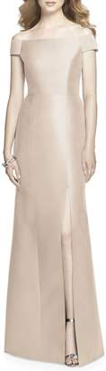 Alfred Sung Off the Shoulder Sateen Gown