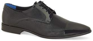 Topman Black Patent Leather Murray Derby Shoes